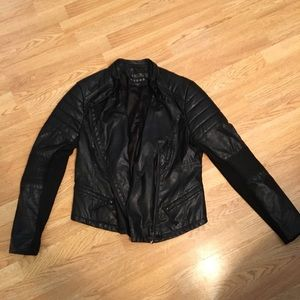 BLANKNYC vegan leather black moto jacket L